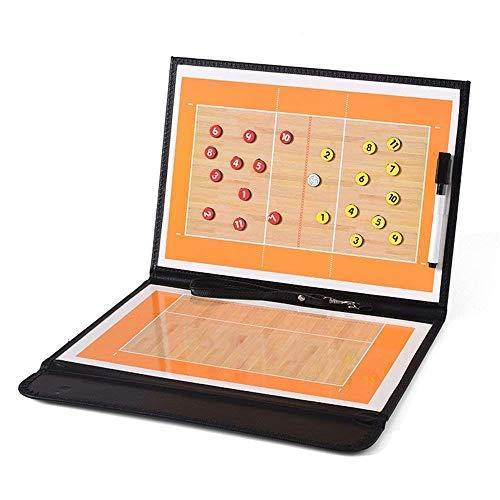 AlIXIN-Tabla magnética de entrenamiento de voleibol plegable con borrado en seco y rotulador,kit de tácticas,tablero táctico,funda de poliuretano con rotuladores y bolígrafo de borrado en escritura.