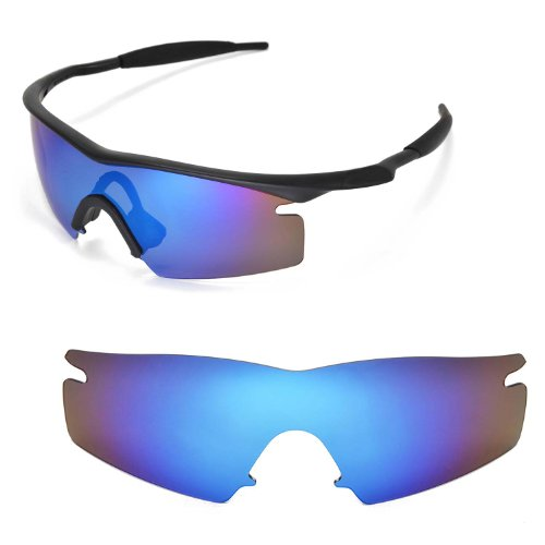 Walleva Ersatzgläser für Oakley M Frame Strike Sonnenbrille - Mehrfache Optionen (Blau)