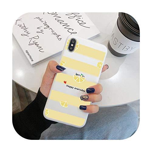 Carcasa para iPhone 7, funda de teléfono suave con flor de fruta para iPhone 7 Plus X XR XS Max 10 6 6S 7 8 Plus 5 5S SE 2020 cubierta trasera para iPhone 11 Pro Max-Kbd-ningmhut-For iPhone 5 5S SE