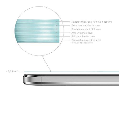 kwmobile Huawei GR3 / P8 Lite SMART Folie - Glas Handy Schutzfolie für Huawei GR3 / P8 Lite SMART - Full Screen Display Schutz - 3