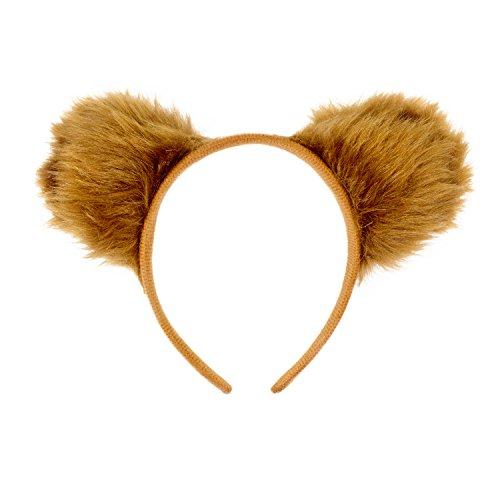 Oblique Unique® Haarreifen Teddy Bär Ohren Braun Bären Kostüm Fasching Karneval Party