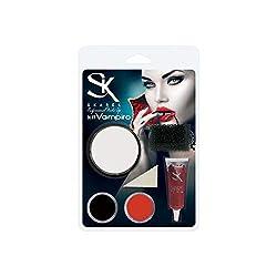 Ofertas Tienda de maquillaje: Incluye maquillaje de blanco, negro y rojo. Incluye dos esponjas, FX y de latex. Incluye sangre ficticia (15ml.). Maquillaje al agua fácil de aplicar y de retirar. Horroriza a todos, parecerás un vampiro de verdad.