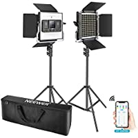 2 Pack Neewer 660 LED Video Light with APP Control