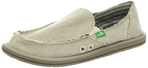 Sanuk Women's Donna Hemp Loafers Natural 6 & Oxy Shoe Cleaner Bundle
