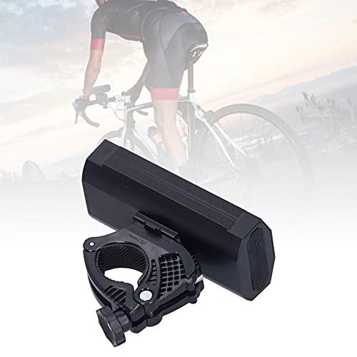 01 Faro de Bicicleta, 2 LED Lámpara Delantera para Bicicleta Aleación de Aluminio Carga USB Batería a Prueba de Lluvia 5200mah con Cable de Carga para Bicicleta de montaña para Ciclismo al