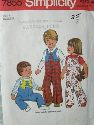 Best Review Of VINTAGE UNCUT & OOP SIMPLICITY 7855 TODDLERS' COVERALLS / OVERALLS SEWING PATTERN SIZ...