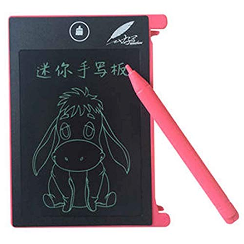 SHUFEIVICC CHUYI 4.4 inch LCD Writing Tablet Portable Electronic Writing Drawing Board Doodle Pads with Stylus for Home School Office(Pink) (Color : Pink)