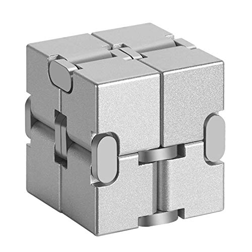 Xtozon Infinity Cube New Version, Aluminum Metal Fidget Finger Cube Toys - Office Decompression Toys Prime for Stress and Anxiety Relief/ADHD, Gifts for Adult and Kids, Cool Stuff.
