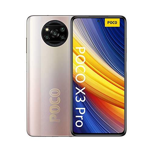 """POCO X3 Pro, Smartphone 8+256 GB, 6,67"""" 120 Hz FHD+ DotDisplay, Snapdragon 860, cámara cuádruple de 48 MP, 5160 mAh, Bronce Metálico (versión ES PT), incluye auriculares"""