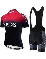 Fietspakken voor heren Fietsshirt met korte mouwen + 3D gevoerde rijlegging Sneldrogende fietskledingset voor buitensporten Fietsen