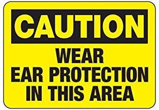Vivityobert Warnschilder für Gehörschutz, Metall, Gefahrenschild, Warnschild, Gefahrenschild, Hausdekoration, Hof, 20,3 x 30,5 cm