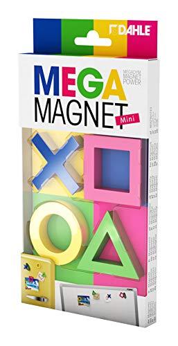 Dahle Mega Magnet Mini Set (4 Magnete in geometrischen Formen, 45 x 45 mm) blau pink gelb grün