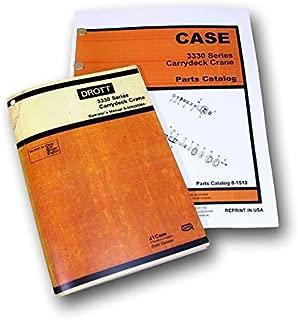 Set Case Drott 3330 Series Carrydeck Crane Parts Operators Manuals Catalogs