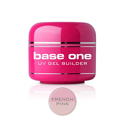 Base One French Pink 50g UV Gel Nails Builder File Off Gel Silcare