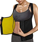 Roseate Faja Reductora Mujer Camisetas Sauna Chaleco Neopreno de Sudoración para Deporte Forma de Cuerpo y Sudor Caliente Cierre de Gancho S