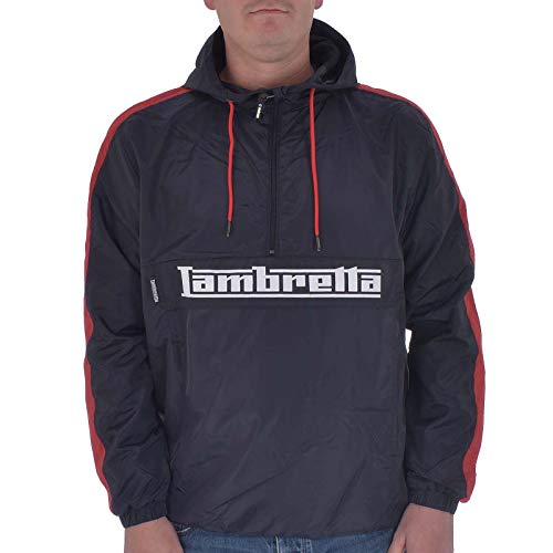 Lambretta Herren Leichte Oth Jacke Sport Gr. XXX-Large, Blau (Marineblau/Rot Marineblau/Rot)