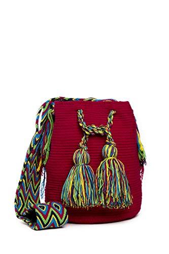 Bolso Wayuu Artesanal, Rojo, Original De Colombia