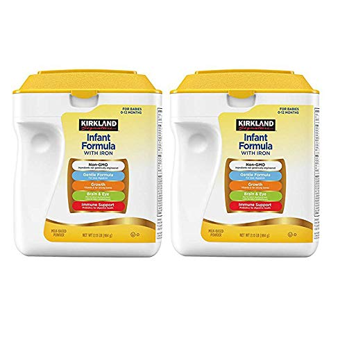 Kirkland Signature Non-GMO, Gentle Infant Formula With Iron 34oz. (2 Pack)