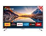 CELLO C75Sfs-4K 75' Súper Rápido Smart TV HDR 4K con Wi-Fi Y TDT Plata T2 HD