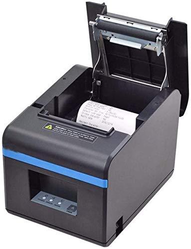YAYY USB-thermoe-ontvangstprinter, kleine draagbare labelprinter met auto-cutter en interne voeding, hogesnelheidspos-printer, compatibel met Android/iOS/Windows (upgrade)