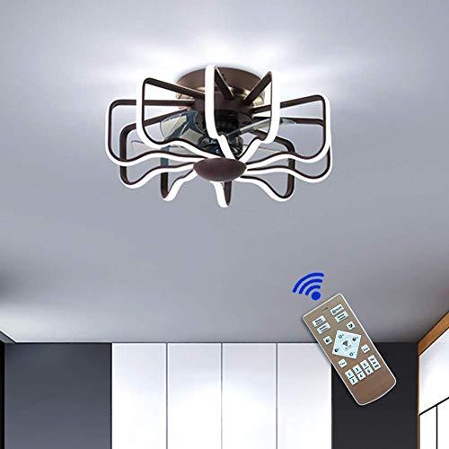 Lámpara de techo Ventilador de techo con iluminación LED y control remoto Ventilador silencioso Ventiladores de techo invisibles creativos Iluminación para sala de estar Dormitorio