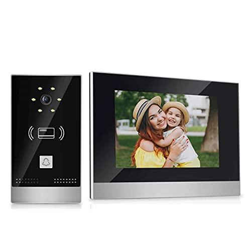 portero Sistema de intercomunicación del teléfono de la puerta de la puerta de la cámara de video con el sistema de entrada de la puerta de la visión nocturna de la pantalla de la pantalla de la panta