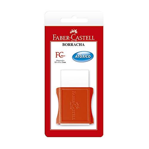 Borracha Grande com Cinta Plástica, Faber-Castell, FC Max, SM/107012, 56mm, Branca