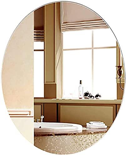 Espejo Iluminado del Cuarto de baño de la vanidad, Horizontal Vertical Minimalista Moderno montado en la Pared Ovalado del retrete