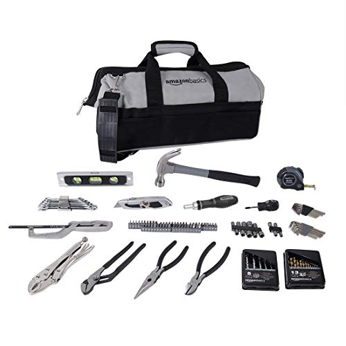 AmazonBasics 115 Piece Home Repair Tool Kit Set With Bag