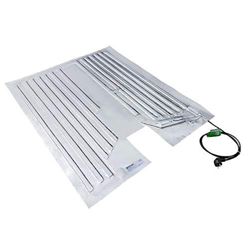 Preisvergleich Produktbild REKUBIK IBC Heizmatte Alukaschiert Bodenheizmatte IP54 (230V) Palettengröße 120x80cm (600 / 800l IBC),  Temperatur 40°C