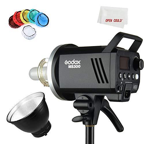 Godox MS300 300W 2.4G Eingebauter drahtloser Empfänger Leichter, kompakter und langlebiger Studioblitz Bowens Mount und 150W Modellierlampe, mit Standard...