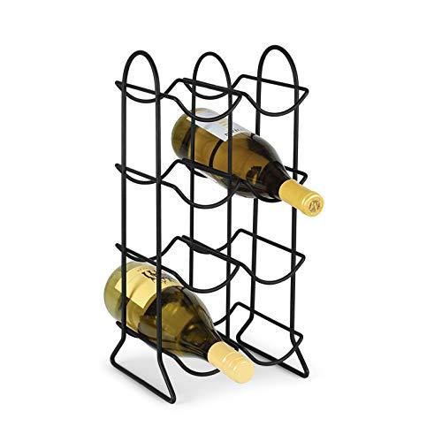 Spectrum Diversified Townhouse Rack 8 Holder Countertop Kitchen Organizer Wine Bottle Storage Perfect for Wine Cellar Home Bar Organization Black