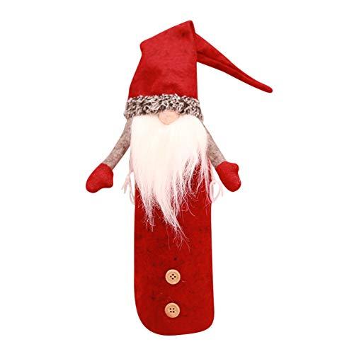 Etophigh manuell Weihnachtsdeko für Flaschen - Hut Flaschendekoration vollbarte Gartenzwerge, Schwedische Weihnachten Wichtel, GNOME, Gartenzwerg