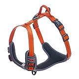 Louvra Arnes del Perro Collar Correa La Manija Adjustable de Nylon, Reflectante para Realizar el Servicio Aire Libre a Prevenir La Ruptura, Color Naranja, Tamaño L (63-77CM)