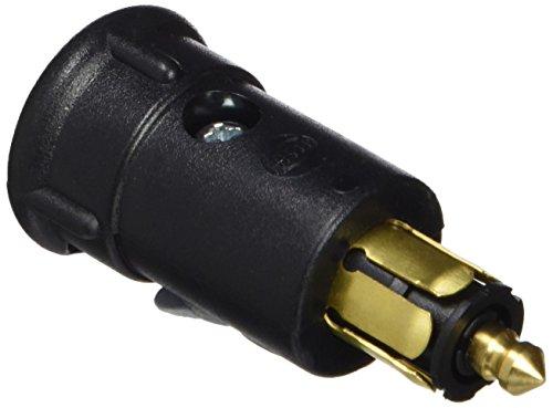 HELLA Stecker mit isoliertem Masseanschluß, passend für 2-polige Steckdosen, Öffnung für Kabelzuführung ø 9,2 mm, Belastbarkeit max. 18 A bis 24 V, nach DIN ISO 4165. mit Zugentlastung