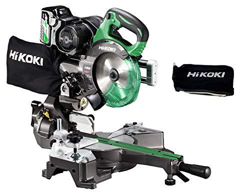 HiKOKI(ハイコーキ) 旧日立工機 コードレス卓上スライド丸のこ 36V マルチボルト 充電式 刃径165mm 両傾斜 最大八寸(245mm)切断 レーザーマーカー・LEDライト内蔵 畜電池・急速充電器・チップソー付き C3606DRB(XP) 予備ダ