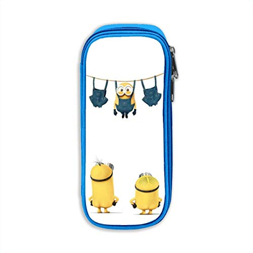 ISWOHJzzz Minions - Estuche grande con cremallera, gran capacidad, para adolescentes, niñas, niños, oficina, escuela, estudiantes, color azul