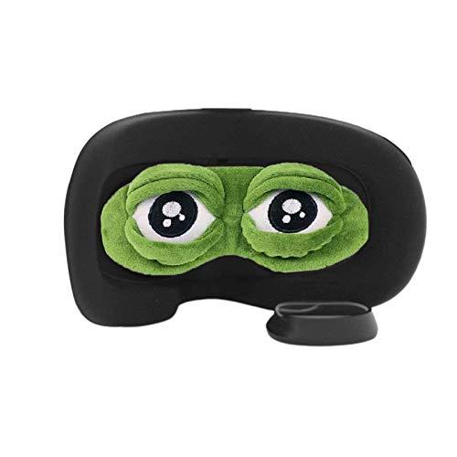 wenhe - Protector de lente de rana para el casco Oculus Quest 2 VR, funda de protección lavable, gafas de dormir