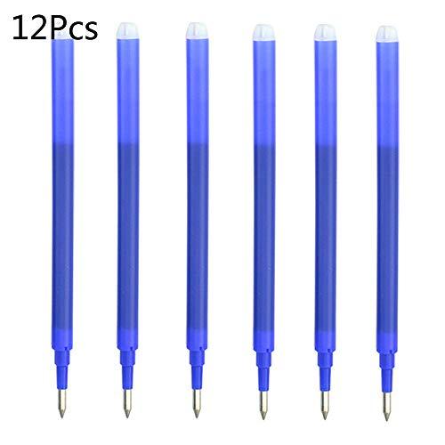 Recambios para bolígrafos borrables Supertool 12 piezas recargas de tinta borrable 0.7 mm recarga de bolígrafo borrable