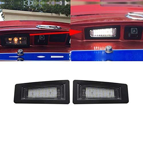 Luces de matrícula de Coche Error 2X Free LED Lice Number Plate Light Light Compatible con Mazda 3 (Axela) 2016- CX-3 2014-2018 Universal