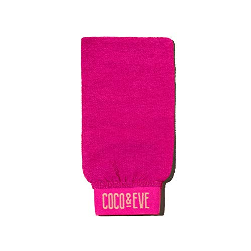 Coco & Eve Sunny Honey - Guante exfoliante para espuma bronceadora de Bali - Ideal para la ducha, darte un baño o aplicar loción autobronceadora