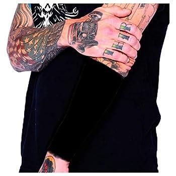 Tat2X Ink Armor Premium Forearm 9  Tattoo Cover Up Sleeve - No Slip Grip - U.S Made - Black - XL2X  one Sleeve