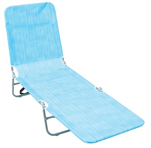 Rio Beach Portable Folding Backpack Beach Lounge Chair with Backpack Straps and Storage Pouch