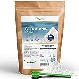 Beta Alanin - 600 g reines Pulver ohne Zusätze - +99% Reinheit - 100% Beta Alanine Aminosäure - Laborgeprüft - Vegan