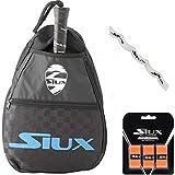 Bandolera Siux + Overgrip + Protector Transparente/para Hombre y Mujer/Transporta Tus Palas de Padel de Forma Comoda y Segura/para Nivel intermedio avanzado y Principiante (Azul)