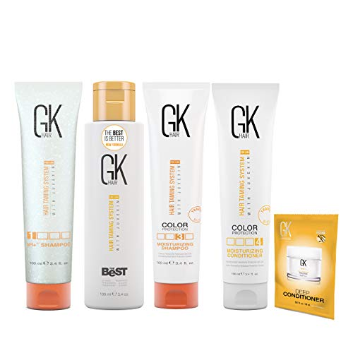 Global Keratin GKhair The Best Professional Hair Straightening, Smoothing Keratin Treatment Kit (100ml/3.4 fl. oz) For Silky, Smooth Natural Hair - New Formula