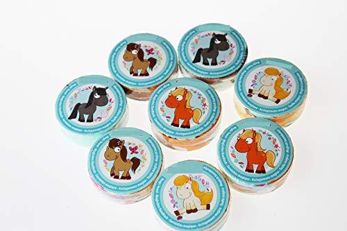 Kamaca - Juego de 4 toallas mágicas (100% algodón), algodón, 8 unidades (= 8 unidades) My Pony., ca. 30 cm x 30 m