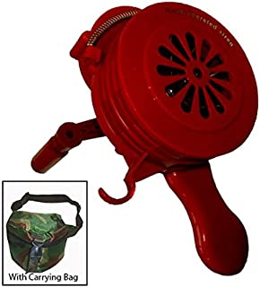 Viking Horns VMS-100P Plastic Loud Hand Crank Manual Operated Air Raid Alarm Portable Siren
