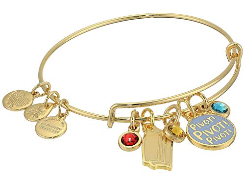 Alex and Ani Friends, Couch and Pivot Cluster Charm Bangle Shiny Gold One Size