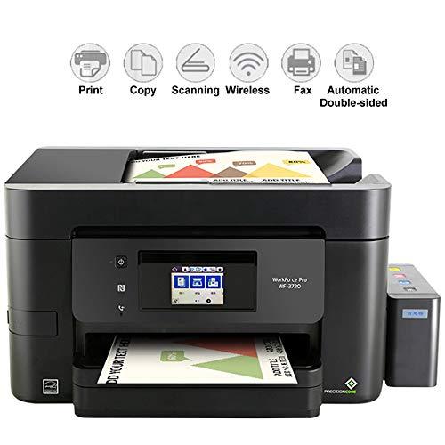 TANCEQI 4-In-1 Tintenstrahl-Multifunktionsgerät Drucker (Scanner, Kopierer, Faxen, Duplex, Unterstützung Legen U-Disk-Druck ADF Einzug WiFi Verdrahtetes Netzwerk/Wireless) Schwarz
